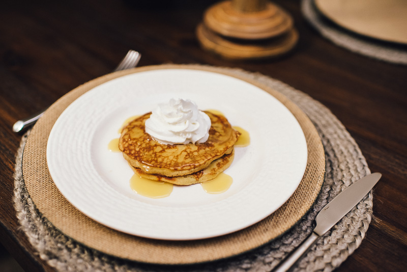 Holiday Recipe: Egg Nog Pancakes + Egg Nog Syrup Sideline Socialite