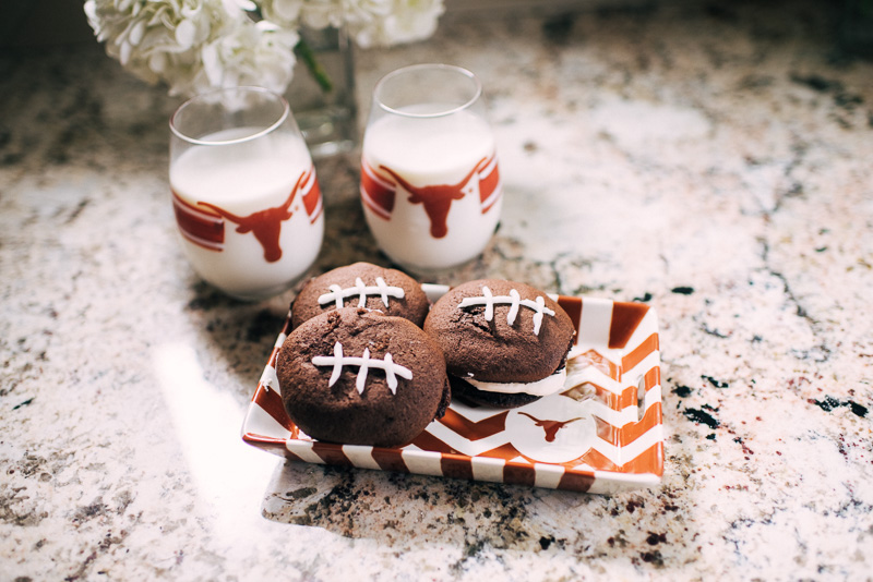 Game Day Recipe Football Whoopie Pies Sideline Socialite
