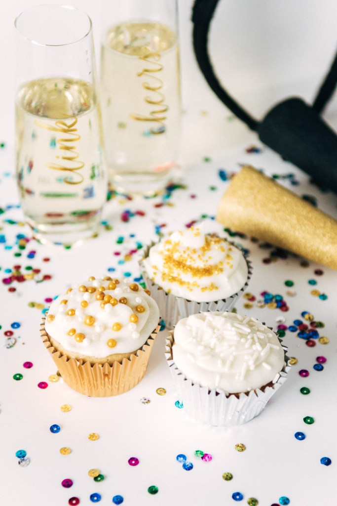 New Year's Recipe: Champagne Cupcakes Sideline Socialite