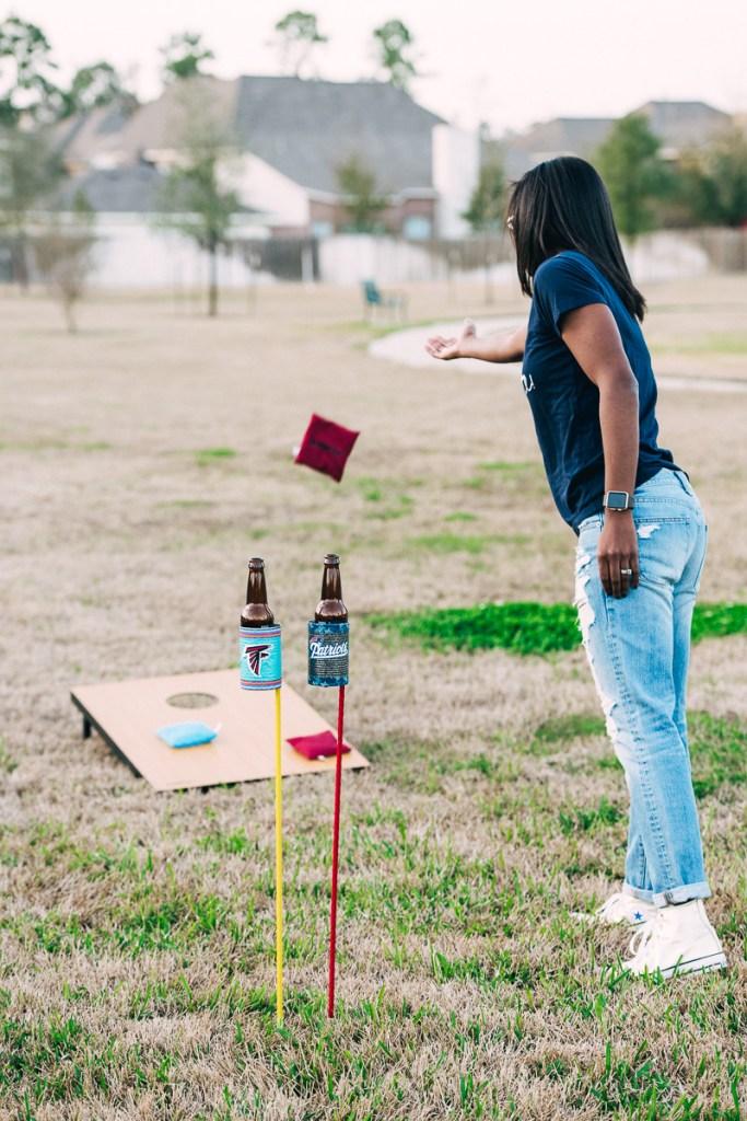 Tailgate DIY Bottle Holder + The Market Street Cornhole Tournament Sideline Socialite