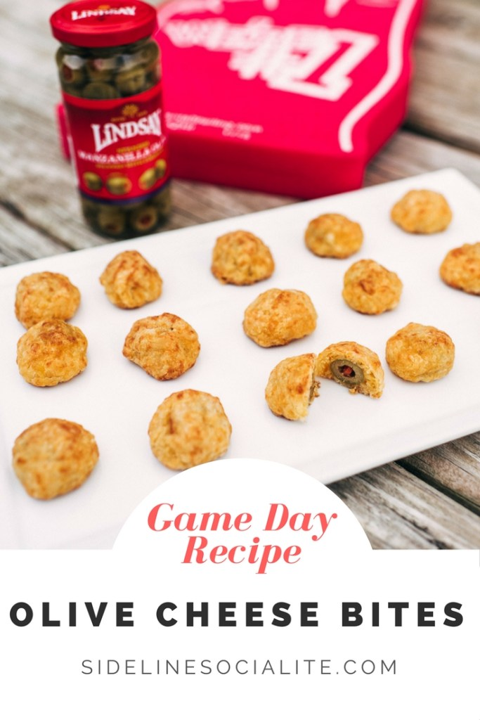 Game Day Recipe Olive Cheese Bites