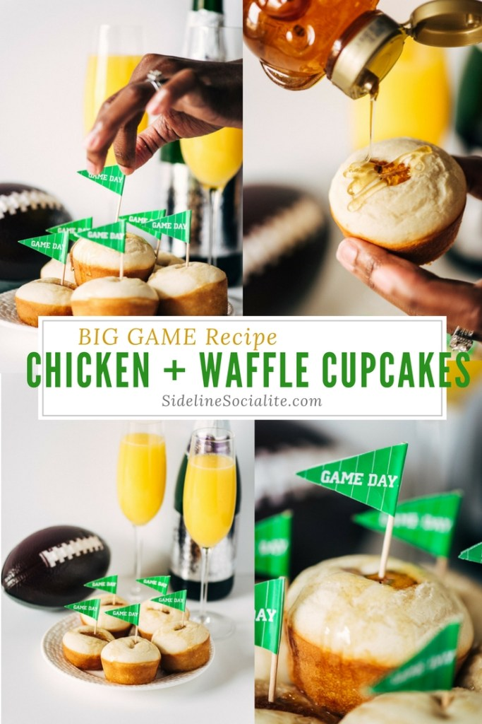 Big Game Recipe Chicken + Waffle Cupcakes