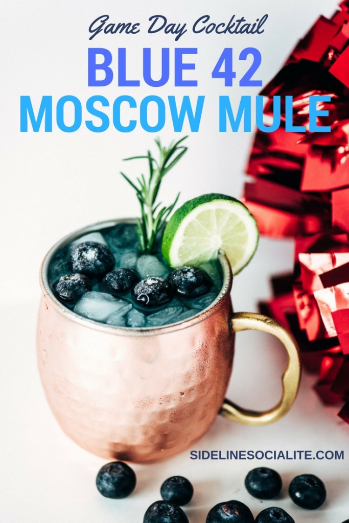 Game Day Cocktail Blue 42 Moscow Mule