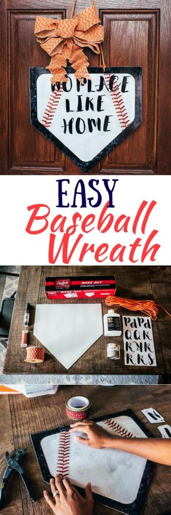 Easy Baseball Wreath