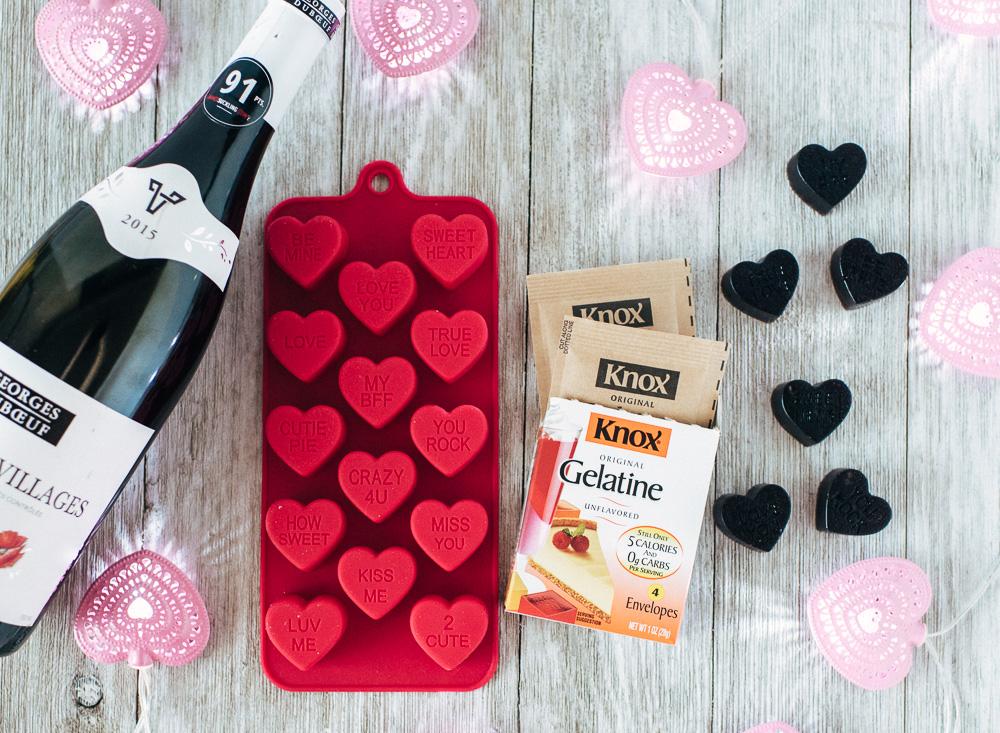 Conversation Heart Wine Gummies Valentine's Day Recipe