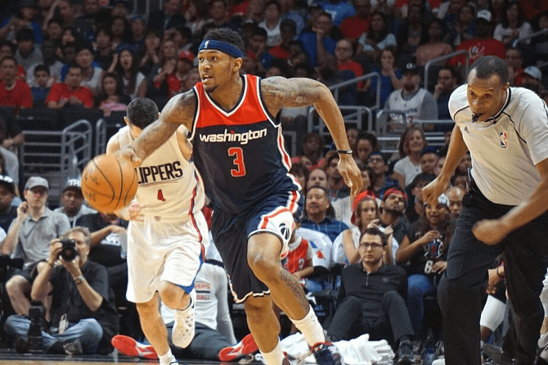 LOS ANGELES, UNITED STATES - APRIL 03: Bradley Beal (3) of Washington Wizards is in action during an NBA game between Los Angeles Clippers vs Washington Wizards at Staples Center, Los Angeles , CA, USA on April 03, 2016.