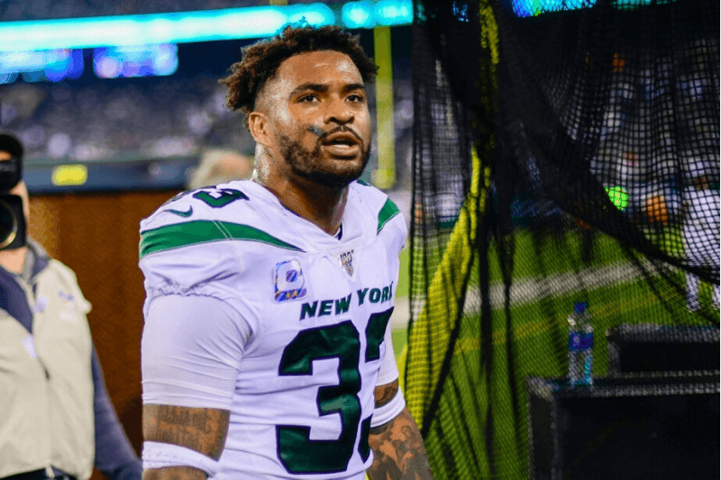 EAST RUTHERFORD, NEW JERSEY - OCTOBER 13: Jamal Adams #33 of the New York Jets walks off the field following his teams 24-22 win over the Dallas Cowboys at MetLife Stadium on October 13, 2019 in East Rutherford, New Jersey.