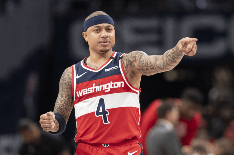 Feb 1, 2020; Washington, District of Columbia, USA; Washington Wizards guard Isaiah Thomas (4) during the the first half against the Brooklyn Nets at Capital One Arena.
