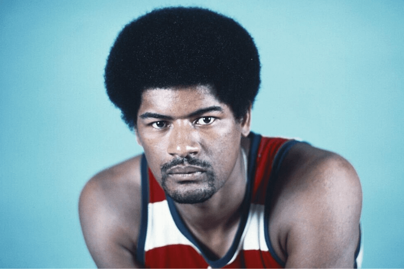 Wes Unseld, player for the Washington Bullets basketball team.
