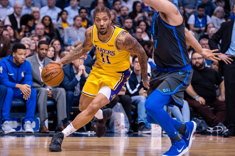 Jan 7, 2019; Dallas, TX, USA; Los Angeles Lakers forward Michael Beasley (11) in action during the game between the Lakers and the Mavericks at the American Airlines Center.