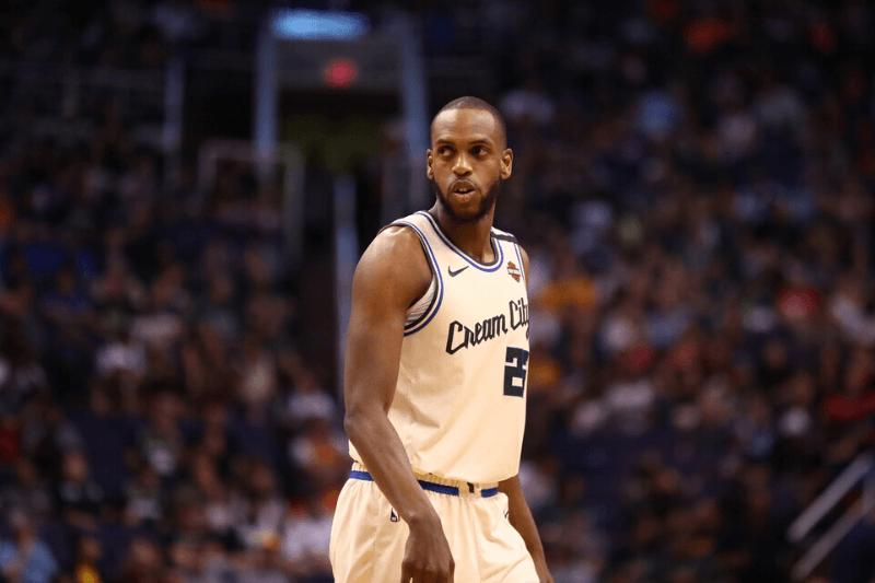 Mar 8, 2020; Phoenix, Arizona, USA; Milwaukee Bucks forward Khris Middleton (22) against the Phoenix Suns at Talking Stick Resort Arena.