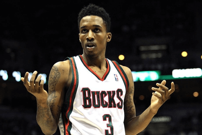 07 February 2010:Milwaukee Bucks guard Brandon Jennings reacts after being called for a foul on Indiana Pacers guard Mike Dunleavy in the forth quarter of a NBA game at the Bradley Center in Milwaukee, Wisconsin. The Bucks defeated the Pacers 93-81.