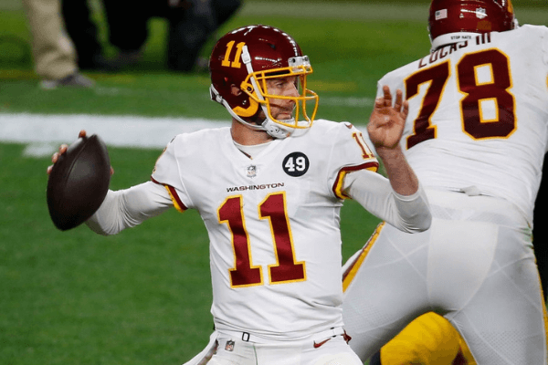 Alex Smith #11 of the Washington Football Team in action against the Pittsburgh Steelers on December 8, 2020 at Heinz Field in Pittsburgh, Pennsylvania.