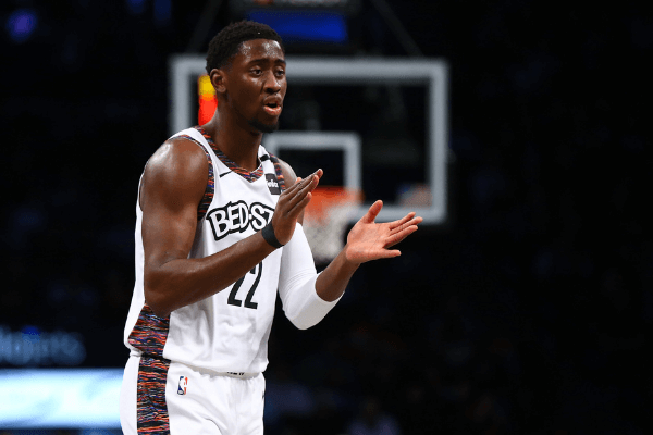 Brooklyn Nets Caris LeVert encourages his teammates