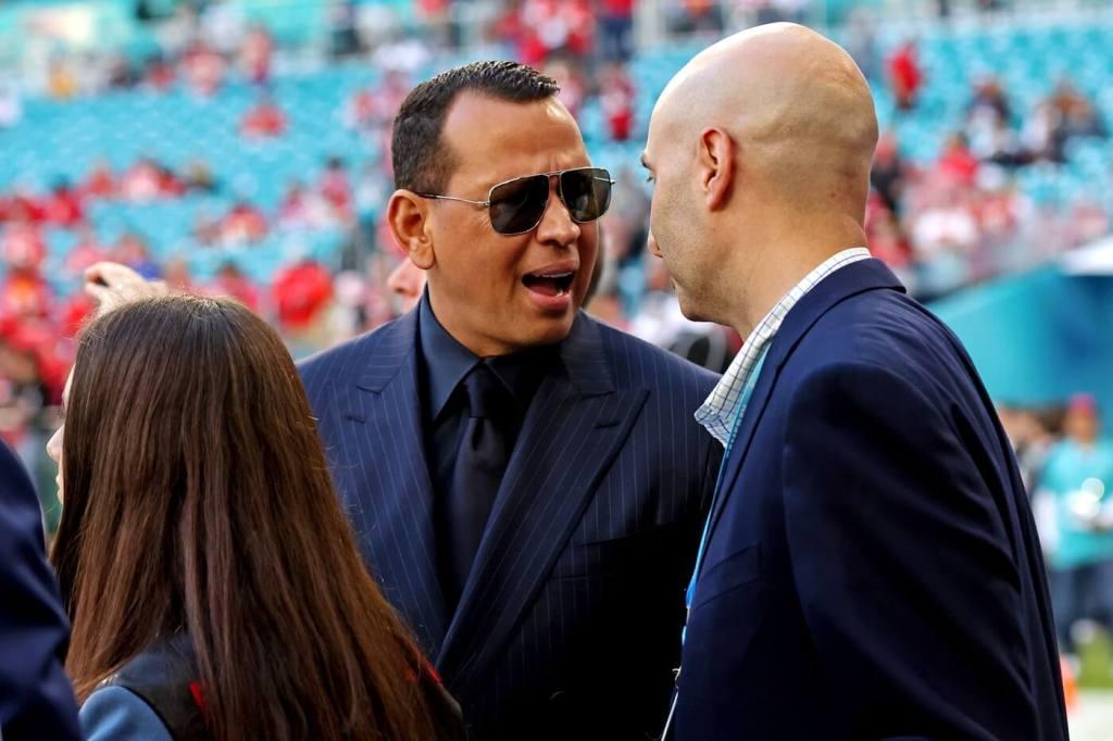 Feb 2, 2020; Miami Gardens, Florida, USA; Fox Sports analyst Alex Rodriguez before Super Bowl LIV between the San Francisco 49ers and the Kansas City Chiefs at Hard Rock Stadium. Mandatory Credit: Matthew Emmons-USA TODAY Sports