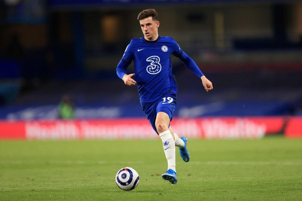 LONDON, ENGLAND - MAY 12: Mason Mount of Chelsea during the Premier League match between Chelsea and Arsenal at Stamford Bridge on May 12, 2021 in London, United Kingdom.