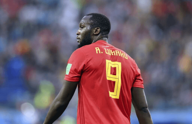 July 10, 2018; St. Petersburg, Russia; Belgium forward Romelu Lukaku (9) looks on during the first half in the semifinals of the FIFA World Cup 2018 against France at Saint Petersburg Stadium. Mandatory Credit: Tim Groothuis/Witters Sport via USA TODAY Sports