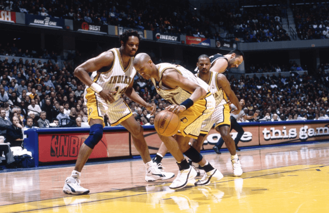Unknown date; Indianapolis, IN, USA; FILE PHOTO; Indiana Pacers guard Reggie Miller (31) in action against the Sacramento Kings at Canseco Fieldhouse.