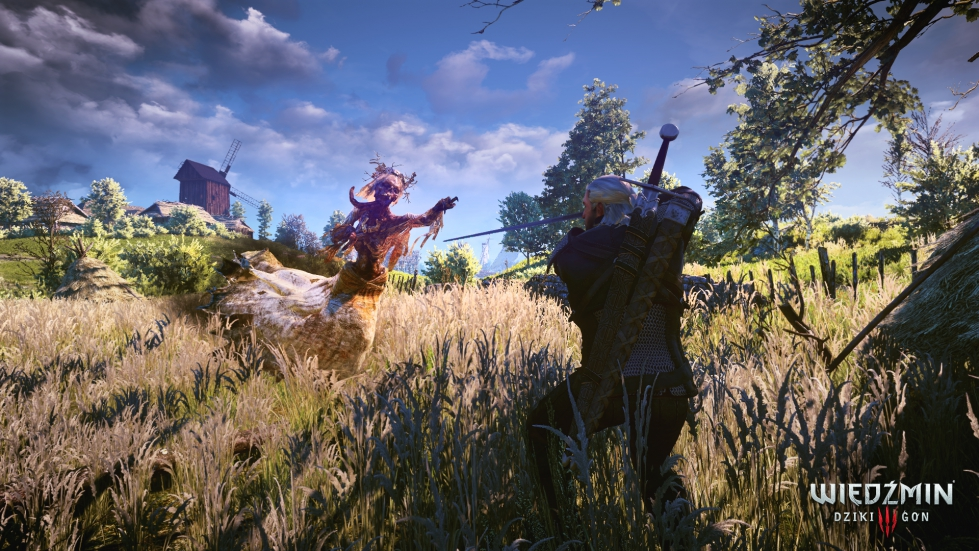Geralt fights a noonwraith, The Witcher 3: Wild Hunt, CD Projekt RED, CD Projekt, 2015
