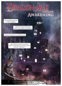 Cover of Dragon Age Origins - AwakeningWebcomic. Penny Arcade, February 2010.