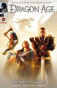 Cover of The Silent Grove. Written by David Gaider and Alexander Freed, illustrated by Chad Hardin, Dark Horse Comics, February 2012.