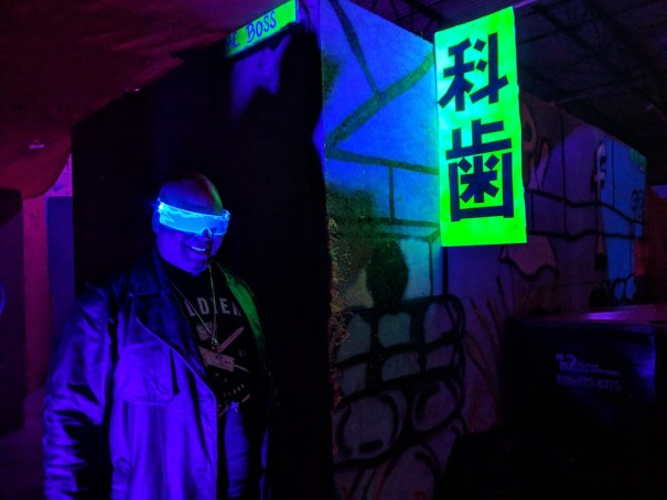 Cyberpunk: Night City location photo (photo used with permission by Jackalope LARP)