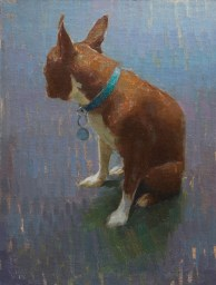 "Aaron Westerberg ""Stella"" Oil on Panel 16"" x 12"" $1400 framed"