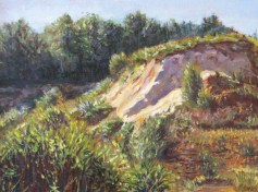 """William Scarlato, """"Quarry in New Hampshire, Late Afternoon Light"""""""