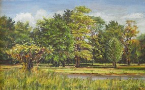 """William Scarlato, """"Roadside Park, Indian Hill, Ohio"""""""