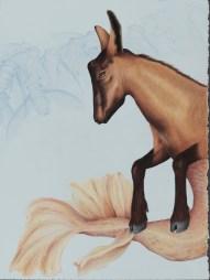 "Lauren Levato Coyne, ""Capricorn"", colored pencil on paper, 15″ x 10.5"", $1650"