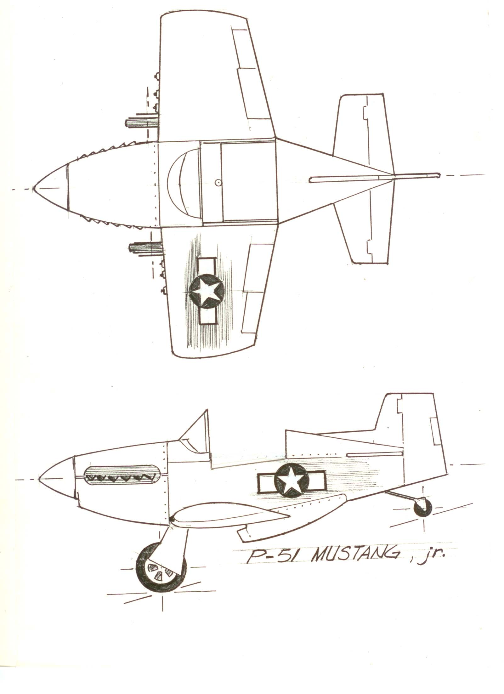 P 40 Kiddyhawk Jr Amp P 51 Mustang Jr Assembly Guide