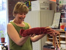 Visiting expert, Mary Cerullo, marine biologist and author, conducts workshops on marine biology and ocean life.