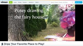 Poseydrawingfairyhouse