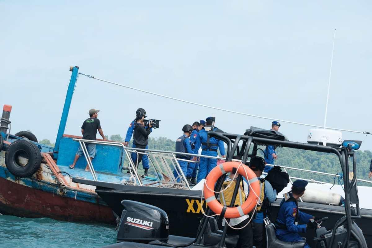 Ditpolairud Polda Banten Laksanakan Patroli Perairan di Pulau Tempurung