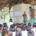 Kopda Irwanto Ajari Siswa PAUD di Desa Tirta Karya