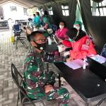 Dinas Jasmani Angkatan Darat Laksanakan Vaksinasi Covid-19 Tahap 1