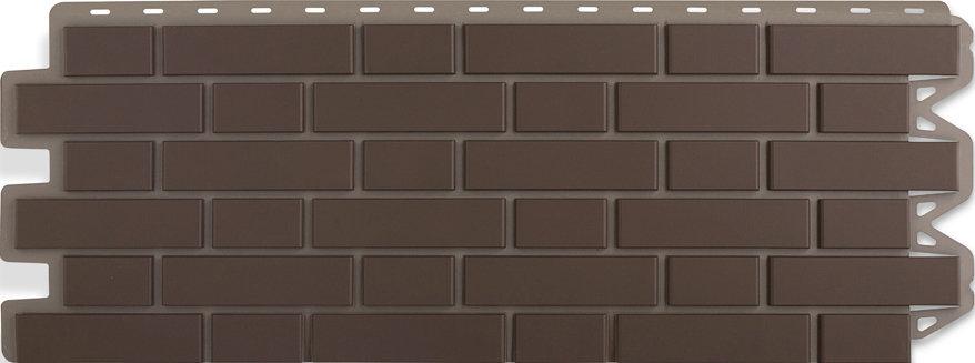 Панель кирпич клинкерный коричневый 1220 х 440 мм