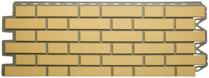 Панель кирпич клинкерный желтый 1220 х 440 мм