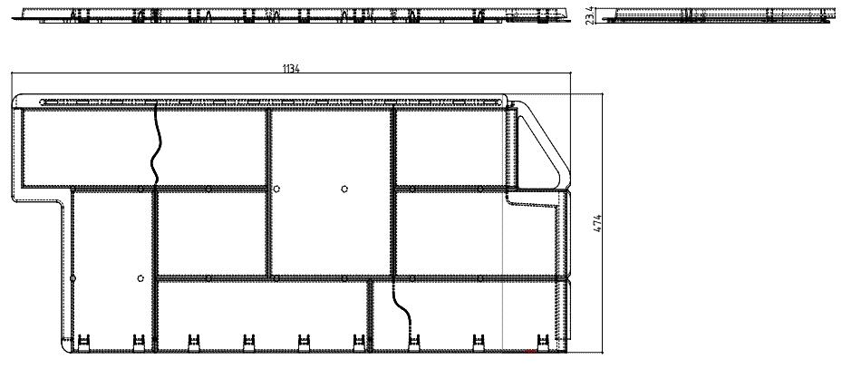 Чертеж панель Гранит