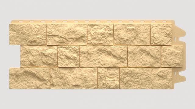Фасадная панель Docke FELS Слоновая кость 1052x425x30 mm