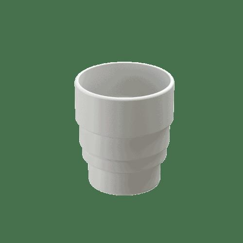 Docke Водостоки LUX Муфта-переходник (ПЛОМБИР)