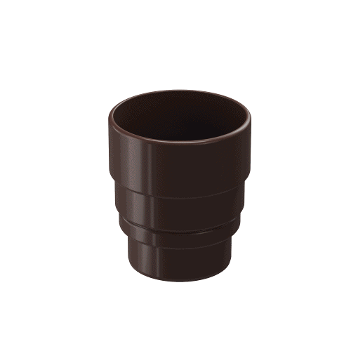 Docke Водостоки LUX Муфта-переходник (ШОКОЛАД)