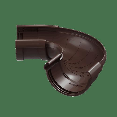 Docke Водостоки LUX Регулируемый угол (ШОКОЛАД)