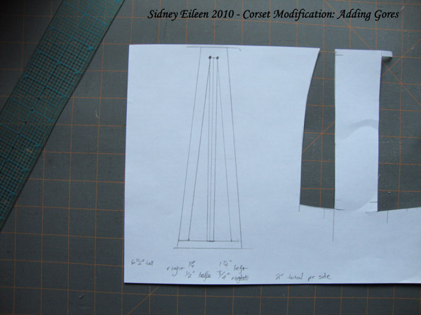 Corset Alteration - How to Add Hip Gores, by Sidney Eileen