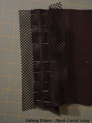 How to Make a Sport Mesh Corset - 05, by Sidney Eileen