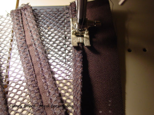 How to Make a Sport Mesh Corset - 10, by Sidney Eileen