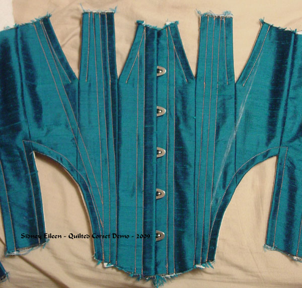 Construction Demo - Quilted Gore Victorian Corset - 12, by Sidney Eileen
