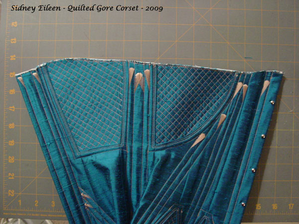Construction Demo - Quilted Gore Victorian Corset - 32, by Sidney Eileen