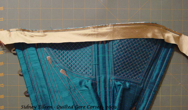 Construction Demo - Quilted Gore Victorian Corset - 33, by Sidney Eileen