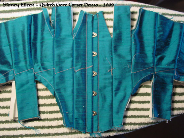 Construction Demo - Quilted Gore Victorian Corset - 05, by Sidney Eileen